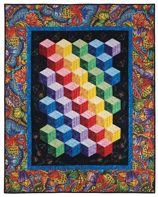 Abc 3 D Tumbling Blocks And More Quilt With Marci Baker