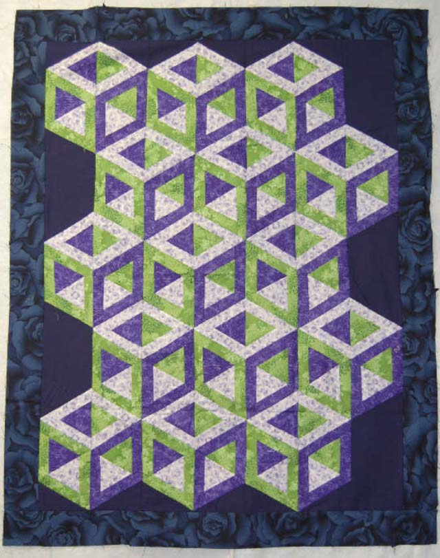 Found in ABC 3-D  Tumbling Blocks...and More!, page 44. - Hollow Cube by Elaine M.