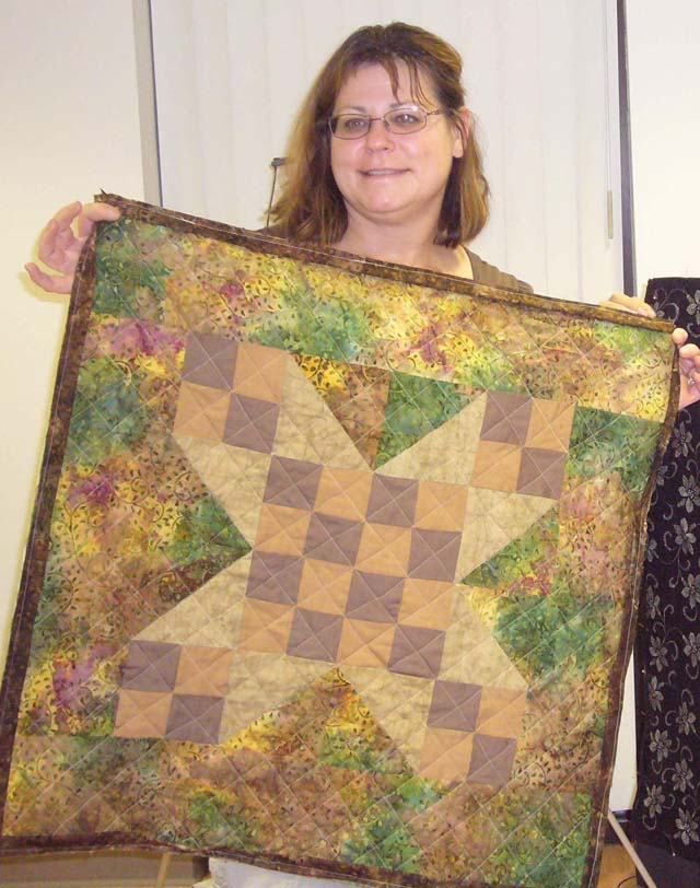 Class - First Wall Hanging by Pam
