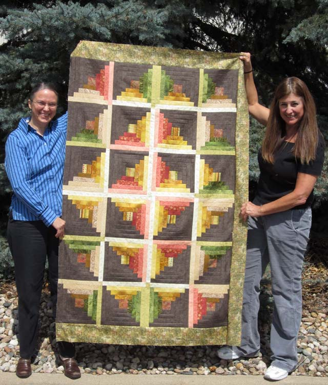 Pattern from  Favorite Quilts Fast and Fun - Log Cabin Quilt By Andrea P.