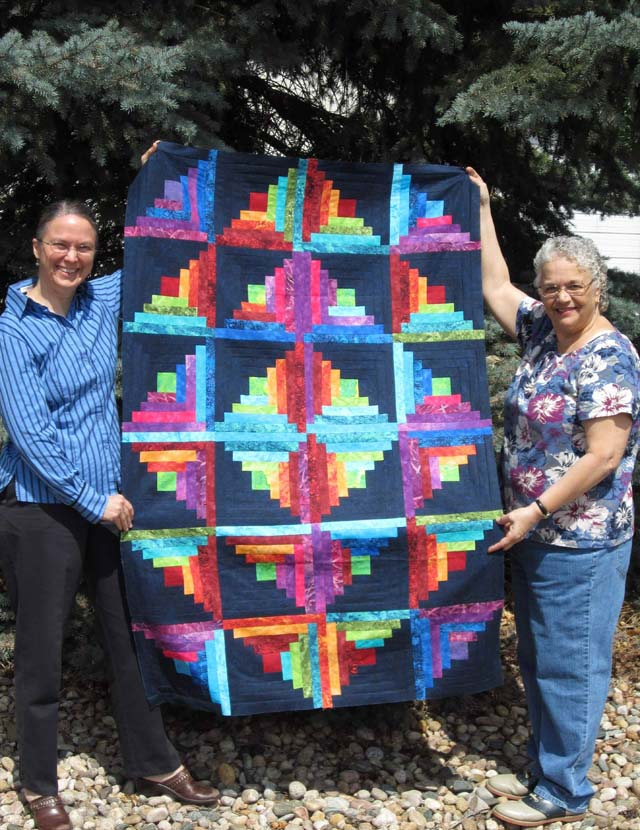 Found in Favorite Quilts Fast and Fun - Log Cabin Quilt By Lorraine M.