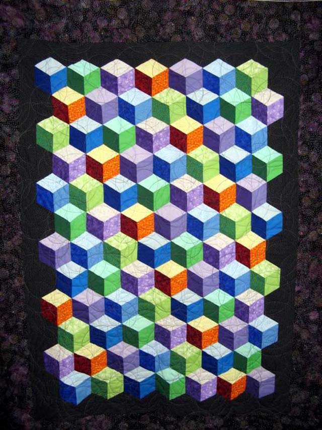 Found in ABC 3-D Tumbling Blocks... and More! - Tumbling Blocks by Kathleen C.