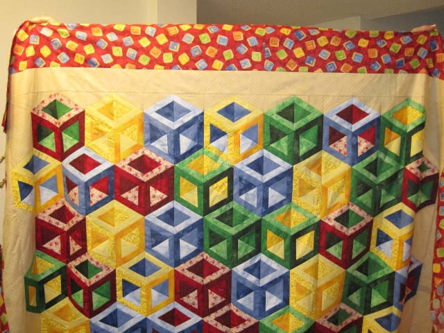 Found in ABC 3-D Tumbling Blocks...and More!, page 44 - Hollow Cube by Martha E.