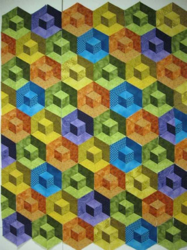 Found in Found in ABC 3-D Tumbling Blocks...and More!, page 50 - Honeycomb Waffle, Too by Susan L.