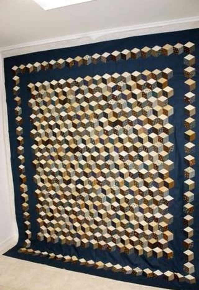 Found in ABC 3-D Tumbling Blocks... and More! - Tumbling Block Quilt by Shala L.