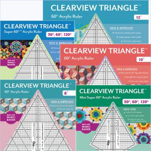 Clearview Triangle™ Ruler Set: 8″, 10″, 12″, Super 60, Mini Super 60