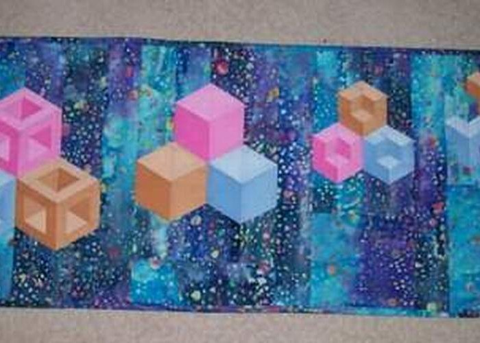 """Found in ABC-3D Tumbling Blocks...and More!  - """"Quartet of Trios"""" by Lesli R. of Moose Jaw, SK Canada"""