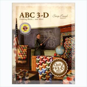 ABC 3-D Tumbling Blocks Book with 8″ Clearview Triangle Ruler