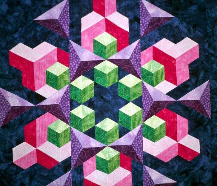 Found in ABC 3-D Tumbling Blocks...and  More!, page 76 - Space Crystal by Anna K.