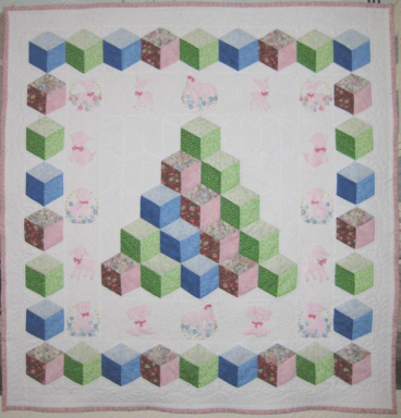 Found in ABC 3-D Tumbling Blocks...and  More!, page 27 - Baby Blocks by Brenda H.