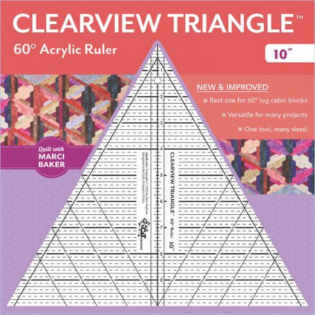 "Clearview Triangle 10"" Ruler"