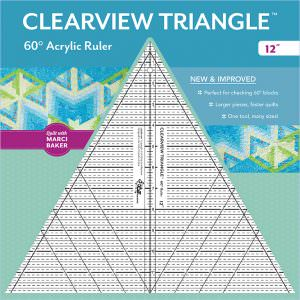 12″ Clearview Triangle™ 60° Acrylic Ruler