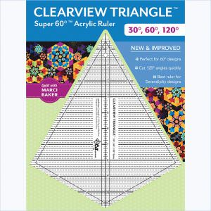 Clearview Triangle™ Super 60°™ Acrylic Ruler