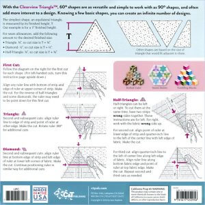 10″ Clearview Triangle™ 60° Acrylic Ruler