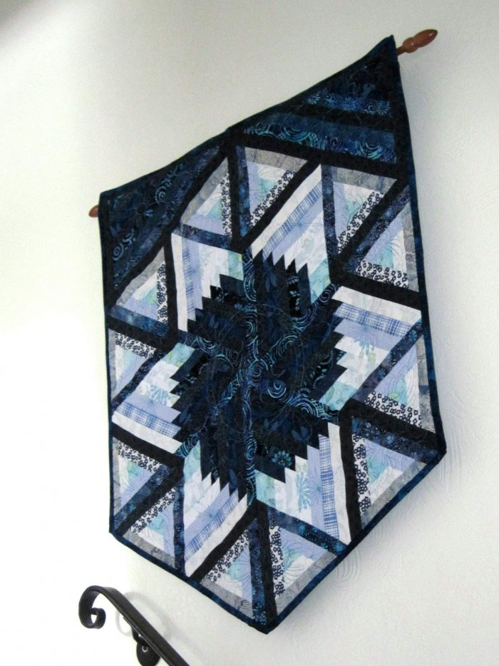 Found in  Not Your Grandmother's Log Cabin - Wall Hanging in Blues Charlotte K.