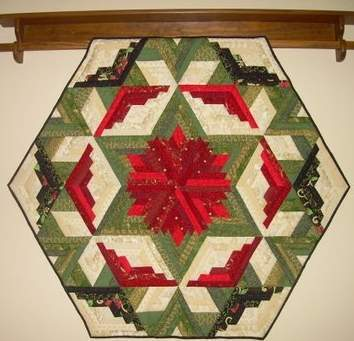 Found in  Not Your Grandmother's Log Cabin - Wall Hanging by Gail L.