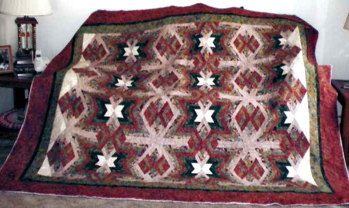 Found in Not Your Grandmother's Log Cabin, page 86 - Native Blanket by Vicki B