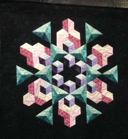 Found in ABC 3-D Tumbling Blocks... and More! - Space Crystal by Carol E.