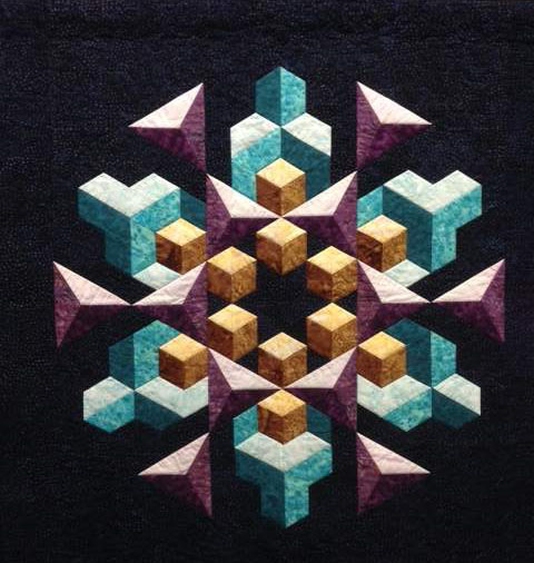 Found in ABC 3-D Tumbling Blocks... and More! - Space Crystal by Denise C.