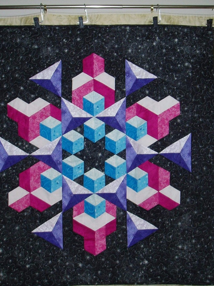 Found in ABC 3-D Tumbling Blocks and... More! - Space Crystal by Marj