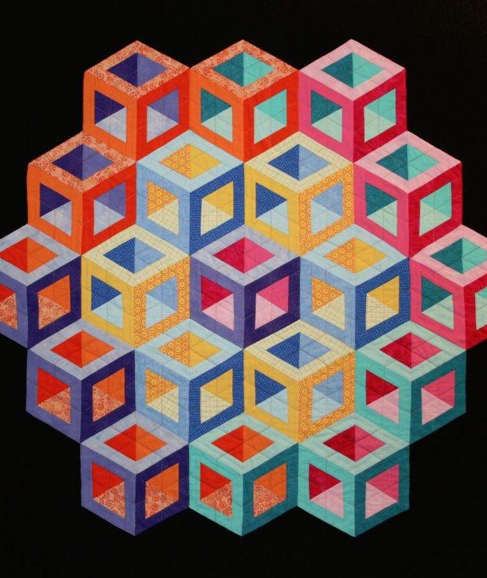 Found in ABC 3-D Tumbling Blocks... and More!  - Hollow Cube by Margaret B.