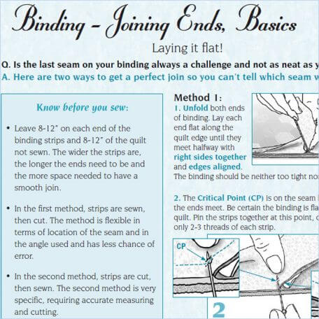 Binding - Joining Ends, Basics