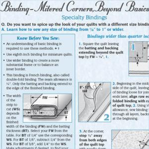 Mitered Corners, Beyond Basics