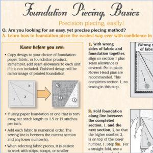 Foundation Piecing, Basics
