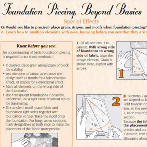 Foundation Piecing, Beyond Basics