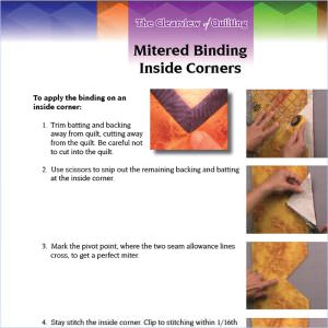 Handout for Video: Mitered Binding Inside Corners