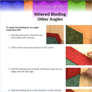 Handout for Video: Mitered Binding for Other Angles