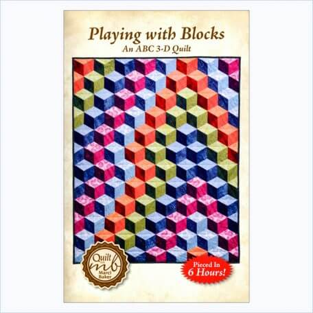Playing with Blocks, An ABC 3-D Quilt front cover