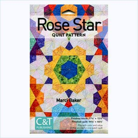 Rose Star Quilt Pattern Front