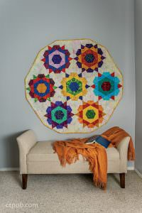 Rose Start quilt pattern wall hanger