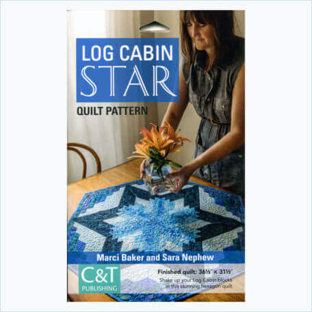 Log Cabin Star Pattern Front Cover