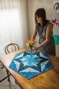 Log Cabin Star table quilt