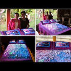 Hollow Cube by Amparo R. and Chila de A. in La Ceja, Antioquia, Colombia